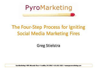 Pyromarketing for pcpa