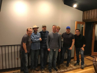 I Stand musicians at 12-12 recording session at CTM Studios.